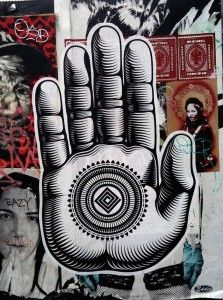 Street art by Cryptik - Buddha Palm in Linden Alley - San Francisco, California, USA Graffiti Art, Graffiti Quotes, Chakras, Buddha Palm, Buddhist Symbols, Gcse Art, Street Artists, Urban Art, Les Oeuvres