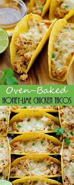 The most flavorful chicken loaded up in crunchy tortilla shells then baked!