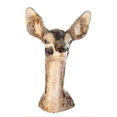 FIGURA DE PORCELANA DE LLADRÓ Figura de cierva de porcelana de Lladró. Medidas: 46 cms.