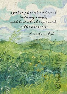 Art Quotes Artists, Art Prints Quotes, Quote Art, Painting Quotes, Art Studio Decor, Van Gogh Quotes, Van Gogh Art, Gifts For An Artist, Statues