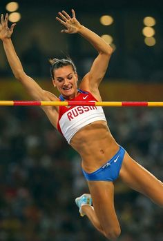 Yelena Isinbayeva has put in yet another masterful display of high-class pole vaulting. Sport Body, Sport Man, Darya Klishina, Tight Abs, Pole Vault, Usain Bolt, Badass Women, Sports Photos, Track And Field
