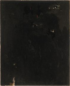 Clyfford Still 1949 support; 47 1/2 x 38 1/2 inches Albright-Knox Art Gallery.