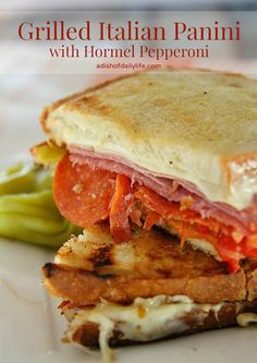 ake your sandwich making outdoors with this Grilled Italian Panini with Hormel…