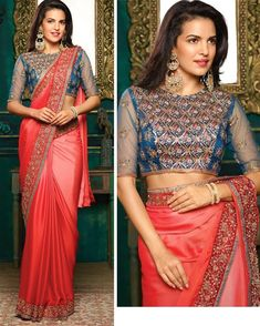This Beautiful Traditional sari gives a perfect look to the outfit. This sari is an ideal for Party,cocktail and social gathering. Sari comes along with matching fabric un-stitched blouse piece. Party Wear Sarees Online, Chiffon Saree, Bollywood Saree, Festival Wear, Lehenga Choli, Indian Sarees, Couture Dresses, Indian Outfits, Indian Fashion