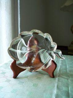 Vintage Lead Crystal Leaf  Wedding Trinket by enchantedmistdesigns, $19.95