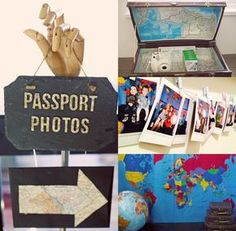 birthday travel idea Project Nursery - Birthday Party Photo Booth for Passport Photos Kids Birthday Themes, 1st Birthday Girls, 1st Birthday Parties, Theme Parties, Birthday Gifts, Lila Party, Travel Bridal Showers, Bon Voyage Party, Around The World Theme