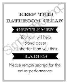 Bathroom Rules Wall Art Home Decor by TheSimplyChicShop Bathroom Rules, Bathroom Cleaning, Wall Art, Sweet, Home Decor, Candy, Decoration Home, Room Decor, Home Interior Design