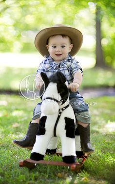 This photo kills me. Cowboy 1yr photo
