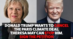 Call on Theresa May to put pressure on Trump now!