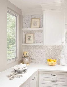 Kitchen Marble Backsplash Tiles with No Grout - Transitional - Kitchen Brick Tile Backsplash, Herringbone Backsplash, Kitchen Backsplash, Tiles, Backsplash Arabesque, Backsplash Cheap, Travertine Backsplash, Layout Design, Armoire