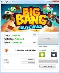Enormous detonation Racing Hack and Cheats Android/iOS Big Bang Racing Hack & Cheats Enormous detonation Racing Generator will permit You to get boundless assets coins and diamonds in couple of minutes to your amusement utilizing our .exe application for PC to associate your telephone by means of usb. Meeting the