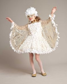 Snow Owl Costume For Girls - Multi, 12 - Chasing Fireflies