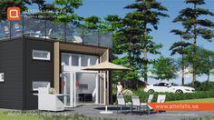 """Attefallshus """"The 4th Epic Wave"""". Fjärde vågen, en efterdyning från vårt internationellt uppmärksammade Epic Wave (architizer A+ awards). #attefallshus #attefall #attefalls #attefallshuset #25kvadrat #Compactliving #guesthouse #gäststuga #bygglovsfritt #takterass #sommarstuga #minivilla"""