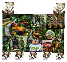 Come Into My Garden by ladyknitty on Polyvore featuring arte, fantasy, artset, artexpression, integrityTT and EtsySpecialT