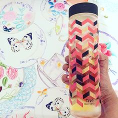 typo shop make some awesome water bottles! This Chevron Pink is great as alternative to using a glass for a table setting!