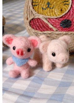 Needle felted - A Little Piggie