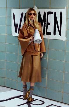 Dree Hemmingway channels 70's feminist & fox Gloria Steinam in this stellar editorial from Porter Magazine.