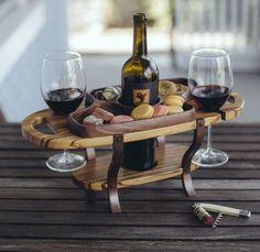Wood wine caddy wine bottle holder wine glass by FineWineCaddy