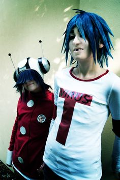 Gorillaz 2-d and noodle cosplay