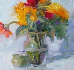 "Daily+Paintworks+-+""Flowers+Everyday""+-+Original+Fine+Art+for+Sale+-+©+Carol+Josefiak"