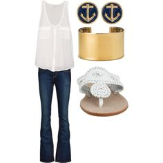 I don't like the accessories at all but add some statement pieces and could be very cute :)
