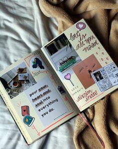 moodboard desancorando Bullet Journal Tracker, Bullet Journal Notebook, Bullet Journal Ideas Pages, Journal Diary, My Journal, Bullet Journal Inspiration, Art Journal Pages, Couple Scrapbook, Scrapbook Journal