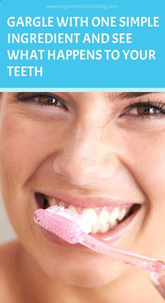 Gargle With Just One Ingredient And See What Will Happen To Your Teeth! Hair Growth Home Remedies, Home Remedies For Acne, Natural Home Remedies, Herbal Remedies, Health Remedies, Healthy Tips, How To Stay Healthy, Healthy Habits, What Happened To You