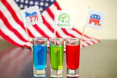 Election Day Jolly Rancher-infused cocktail shooters