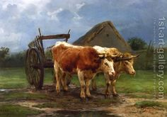 Rosa Bonheur:Oxen Pulling a Cart