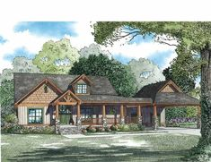 Eplans Country House Plan - Huge Open Great Room - 3399 Square Feet and 4 Bedrooms(s) from Eplans - House Plan Code HWEPL75031