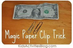 magic paper clip trick/experiment