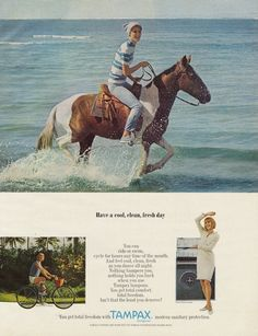 1966 Tampax Tampons Ad Feminine Hygiene Products by AdVintageCom