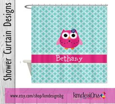 Country Owl Personalized Shower Curtain By KMDesignsBG On Etsy 6800 Owls Monogram Showercurtain