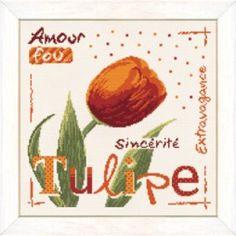 La Tulipe - Lilipoints - A broder au point de croix