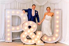 "5ft Illuminated Light up Letters ""P&J"""