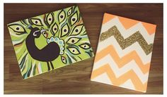 I love the one gold chevron! Think I'll do that with silver glitter and purple or blue paint.