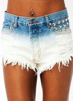 I'm making these!: Dip-Dye Shorts
