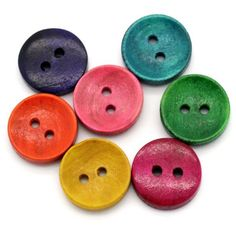 Mixed 50PCs Wood Sewing Buttons 2 Holes Sewing Projects For Kids 9cd9db49fe94