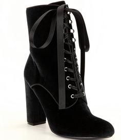 84975f14f69367 Steve Madden Evolved Velvet Dress Booties Black Velvet Boots