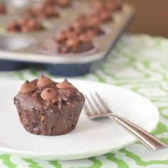 double chocolate protein muffin by spabettie