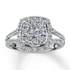 10K White Gold 5/8 Carat t.w. Diamond Ring This ring is to die for!!! HINT HINT, size 6 :)