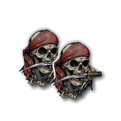 FAST USA SHIPPING! Set of 3 PIRATE SKULLS shoe charms//cake toppers!