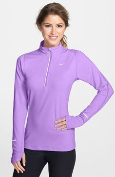 Nike 'Element' Half Zip Top available at #Nordstrom, Atomic Violet- Size L