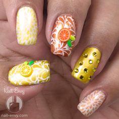 Summery Citrus Nails - Nail Envy