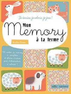 Les mercredis de Julie : Mon memory à la ferme de Géraldine Cosneau, Mila éditions. « Un livre d'activités amusant et plutôt original ! Laura a beaucoup aimé créer son propre jeu de Memory ! »