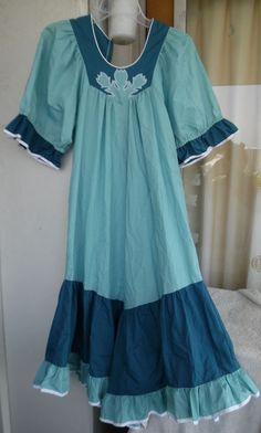 "Hawaiian MuuMuu Dress   Medium   Green ""Carol Bennett"" Hawaii MuMu Dress #Hawaiian #Hawaiian #Casual"
