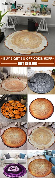 Round Wood Carpet Printing Annual Ring Carpet Home Bedroom Rug Door Mat Home Bedroom, Bedroom Decor, Floors And More, New Inventions, Cabin Interiors, 3d Printing, Shops, Interiores Design, Home Projects