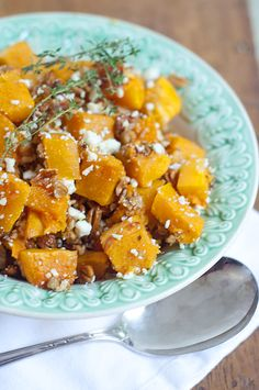 Butternut Squash with Pecans by @Lana Stuart | Never Enough Thyme #Thanksgiving
