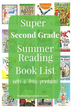 Need some great books for your Second Grader to read this summer? Look no further! Get your Second Grade Summer Reading Book List here!