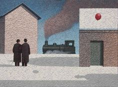 Catto Gallery   Mark Edwards Solo Exhibition 2016   Train Arriving Magazine Illustration, Book And Magazine, White Wood, Surrealism, Cool Art, Louvre, Train, Gallery, Drawings